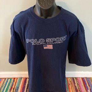 90s Polo Sport Ralph Lauren American Flag Shirt 3X